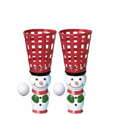 Snowman Pop and Catch Game 2ct