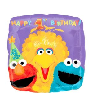 1st Birthday Sesame Street Balloon