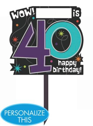 The Party Continues 40th Birthday Yard Sign