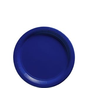 Royal Blue Paper Dessert Plates 20ct