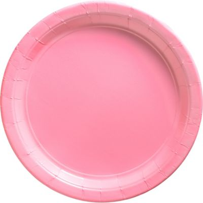 Pink Paper Dinner Plates 20ct
