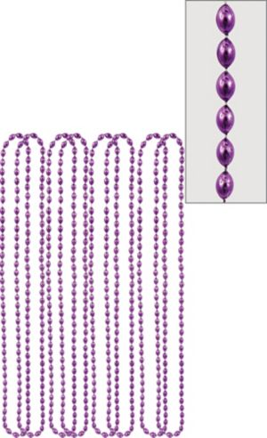 Metallic Purple Bead Necklaces 8ct