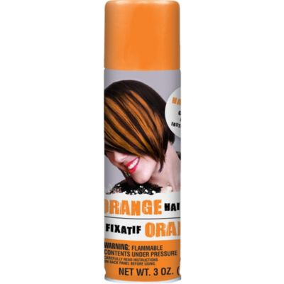 Orange Temporary Hair Color Spray 3oz