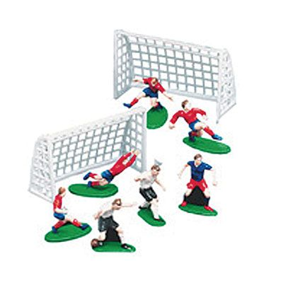 Soccer Cake Toppers 9ct