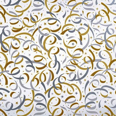Gold & Silver Streamer Cello Sheets 15ct