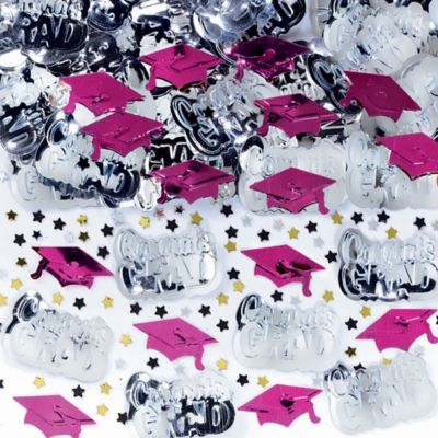 Metallic Berry Graduation Confetti