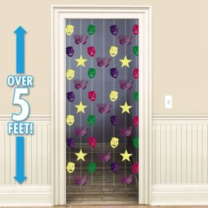 Mardi Gras Doorway Curtain