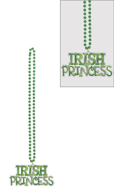Irish Princess Pendant Bead Necklace