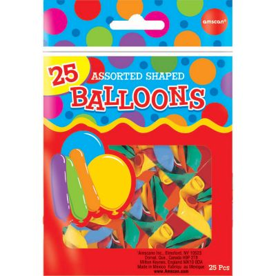 Assorted Shapes Balloons 25ct