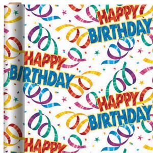 Party Streamer Birthday Gift Wrap