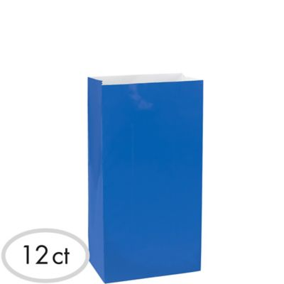 Royal Blue Paper Bags 12ct