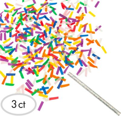 Flutter Fetti Confetti Sticks 3ct