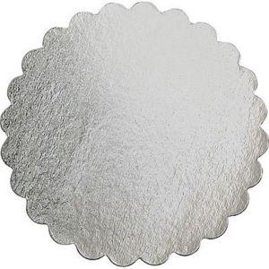 Silver 16in Round Cake Board