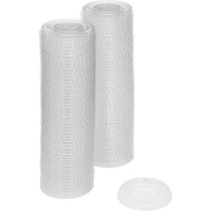 CLEAR Plastic Portion Cup Lids 1.25oz 100ct