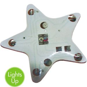 Light-Up Twirl Star Pin