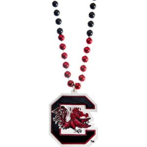 South Carolina Gamecocks Pendant Bead Necklace