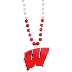 Wisconsin Badgers Pendant Bead Necklace