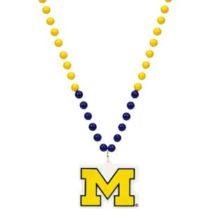 Michigan Wolverines Pendant Bead Necklace