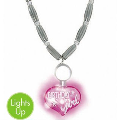 Light-Up Birthday Girl Necklace