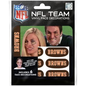 Cleveland Browns Eye Black Stickers 6ct