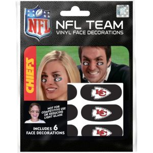 Kansas City Chiefs Eye Black Stickers 6ct