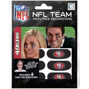 San Francisco 49ers Eye Black Stickers 6ct