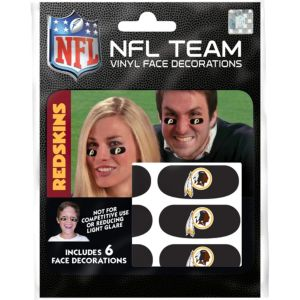 Washington Redskins Eye Black Stickers 6ct