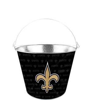 New Orleans Saints Galvanized Bucket