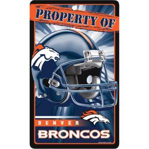 Property of Denver Broncos Sign