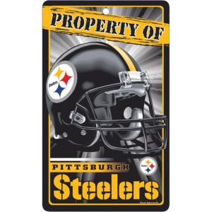 Property of Pittsburgh Steelers Sign