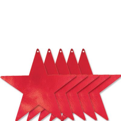 Medium Red Star Cutouts 5ct