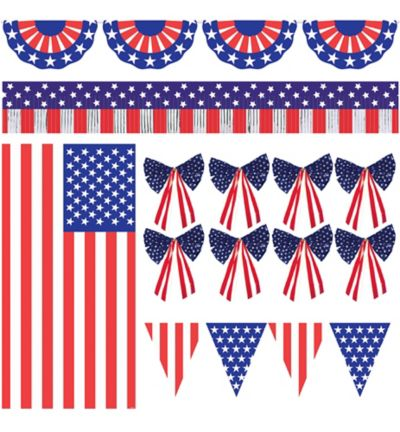 Patriotic Outdoor Decorating Kit 12pc