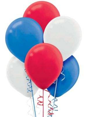 Red, White & Blue Balloons 72ct