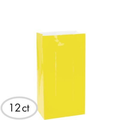 Sunshine Yellow Paper Bags 12ct