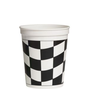 Black and White Checkered Party Cup 16oz