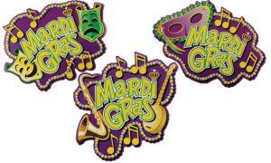 Mardi Gras Marquee Cutouts 3ct