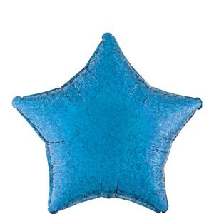 Blue Star Balloon - Prismatic