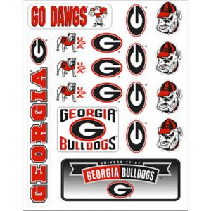 Georgia Bulldogs Decals 18ct