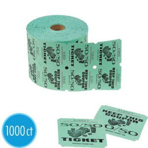 50/50 Double Roll Raffle Tickets 1000ct