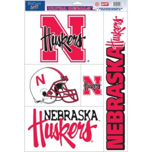 Nebraska Cornhuskers Decals 5ct