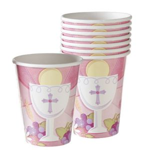 Girl's First Communion Cups 18ct