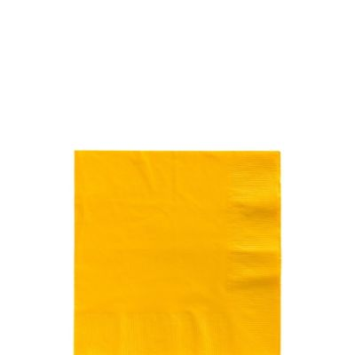 Sunshine Yellow Beverage Napkins 125ct