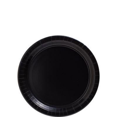 Black Paper Dessert Plates 50ct