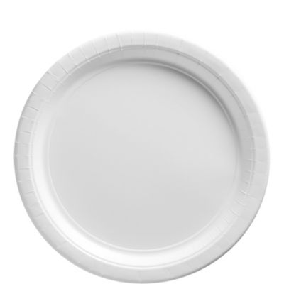 White Paper Lunch Plates 50ct
