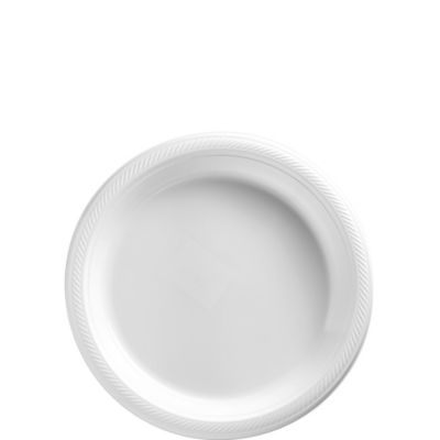 White Plastic Dessert Plates 50ct