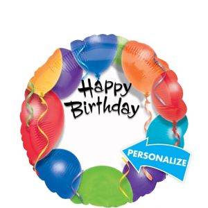 Happy Birthday Balloon - Personalized Colorful Balloons