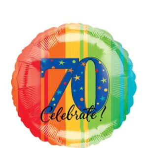70th Birthday Balloon - A Year to Celebrate