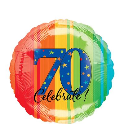 70th Birthday Balloon - A Year to Celebrate