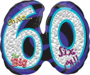60th Birthday Balloon - Giant Oh No!
