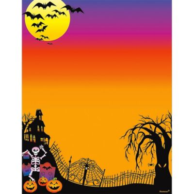 Haunted Hill Printable Halloween Invitations 25ct